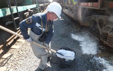 Обработка цистерны и мест пролива соляной кислоты щелочью