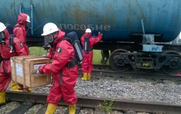 Подготовка к установке МГУ (магнитное герметизирующее устройство) на аварийную цистерну