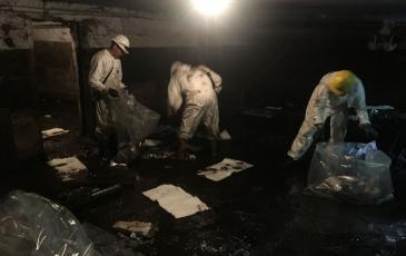Спасатели проводят работы по ликвидации ЧС(н)