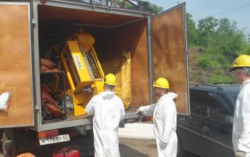 Развертывание оборудования сотрудниками ПАСФ «ЭКОСПАС»