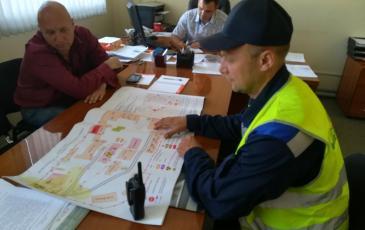 Работа заместителя командира отряда в штабе ликвидации аварии