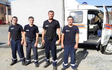 Спасатели после окончания учений