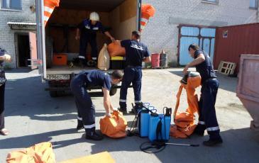 Выгрузка, подготовка к работе газоспасательного оборудования и снаряжения