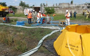 Запуск агрегатов и начало ликвидации разлива нефтепродуктов
