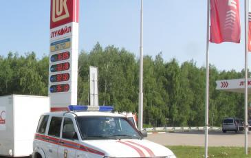 ПАСФ Уфимский центр «ЭКОСПАС» к месту проведения ТСУ прибыл