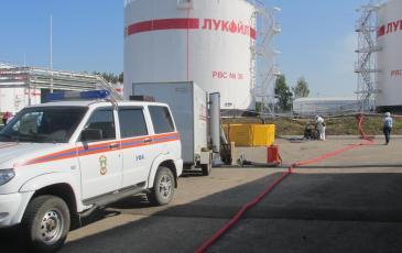 Уфимский центр « ЭКОСПАС» на панораме нефтебазы