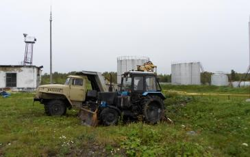 Сбор и вывоз загрязненного нефтепродуктами грунта