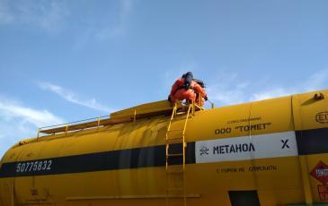 Работы по устранению капельной течи метанола