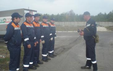 Постановка боевой задачи личному составу на месте КУ по ликвидации ЧС