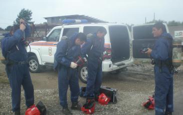 Боевая проверка звена газоспасателей
