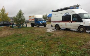 На место аварии прибывает ПАСФ Нижневартовского центра «ЭКОСПАС»