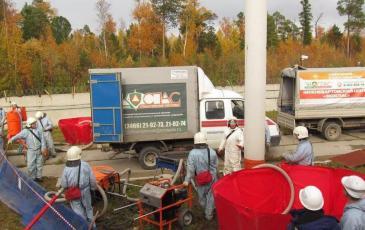Процесс сборки нефтепродукта личным составом ПАСФ