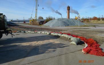 Локализация места пролива нефтепродуктов