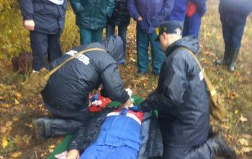 Работа спасателей на ГСБ
