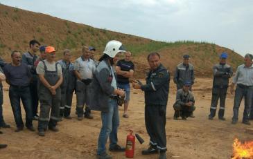 Занятия по противопожарной подготовке персонала