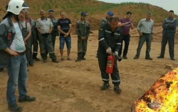 Порядок пользования огнетушителем