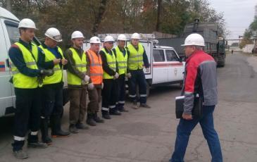 Инструктаж для Астраханского ТП перед началом учений