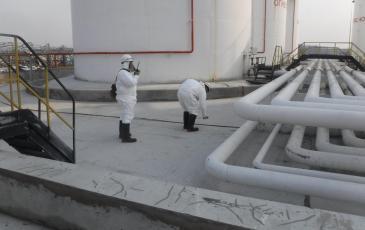 Спасатели Приморского центра проводят разведку воздушной среды