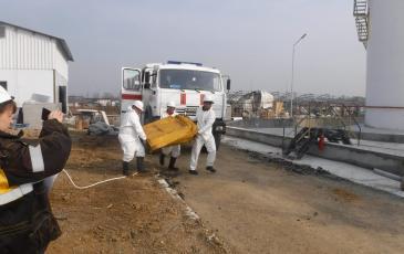 Спасатели Приморского центра устанавливают оборудование в зоне проведения учений