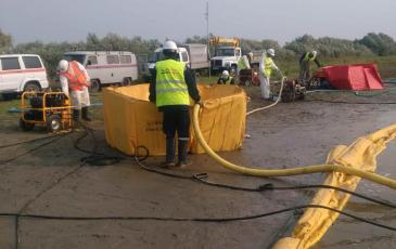 Нефтесборные системы в работе