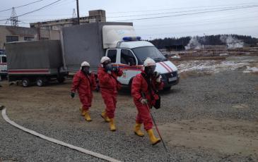 Выдвижение газоспасательного звена с целью проведения разведки зоны ЧС