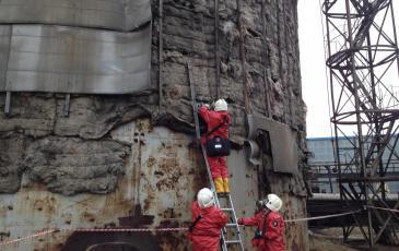 Локализация места утечки нефтепродукта путем установки магнитного пластыря