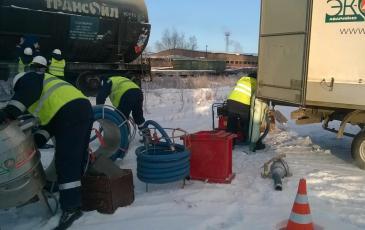 Локализация аварийного разлива нефтепродуктов на ст. Иркутск-Сортировочный