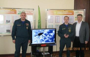 Фото с представителем ГУ МЧС по Краснодарскому краю