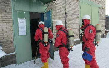Проведение разведки и обследование загазованной зоны