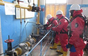 Проведение АВР газоспасательным отделением