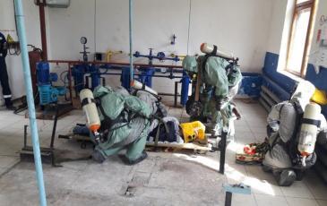 Работа звена УКПГ «Глебовка» ГУП РК «Черноморнефтегаз»
