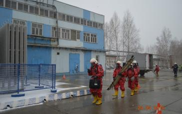 Движение спасателей к месту ЧС
