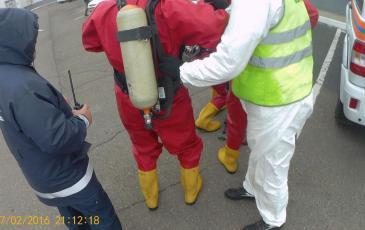 Работа газоспасательного отделения