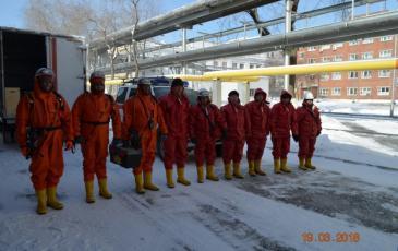 Строевой смотр личного состава Свердловского центра перед началом учений