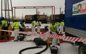 Подготовка оборудования к сбору разлива нефтепродуктов