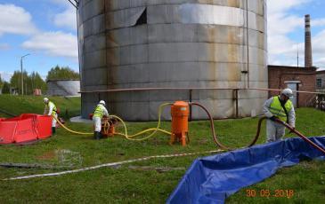 Откачка условно разлитого нефтепродукта