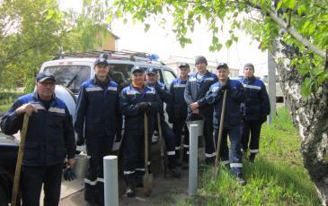 Прибытие личного состава на традиционную городскую посадку деревьев