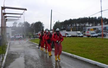 Движение газоспасательного звена с цель проведения разведки места условного ЧС и поиска пострадавших