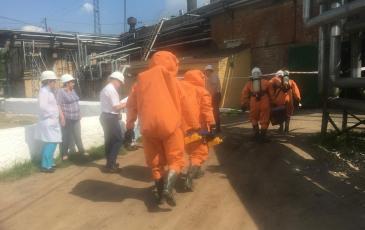 Движение спасателей в загазованую зону