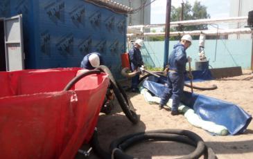 Ликвидация разлива нефтепродуктов