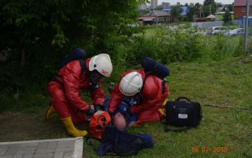 Обнаружение условного пострадавшего и подготовка его к эвакуации