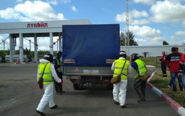 Прибытие сил и средств Саратовского центра «ЭКОСПАС» на место проведения работ