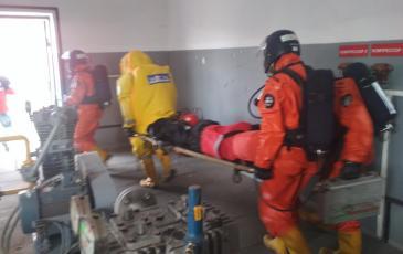 Эвакуация пострадавшего на ГСБ