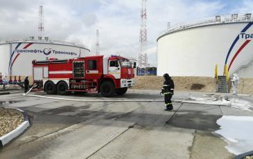 Отработка вводных по тушению условного пожара