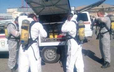 Подготовка газоспасателей к работе
