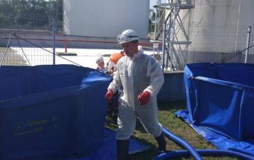Развертывание емкости временного хранения нефтепродуктов