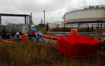 Размещение насосного оборудования для откачки нефтепродукта