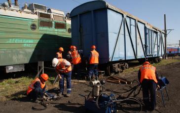 Работа восстановительного поезда