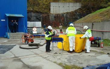 Подготовка емкости временного хранения (ВХН-6)
