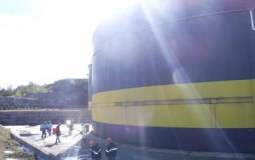 АСФ Приморского ТП-Хабаровского центра «ЭКОСПАС» совместно с НАСФ ООО «РН-Морской терминал Находка» проводят работы по ЛРН